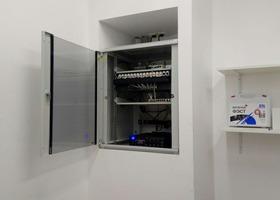 """Открытие магазина """"ZARINA"""" в ТЦ """"Акварель"""". Сбор серверного шкафа, установка, коммутация в нем оборудования, обжимка и укладка проводов."""
